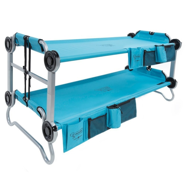Disc-O-Bed Kid-O-Bunk Teal Blue Bunk Bed with Organizer