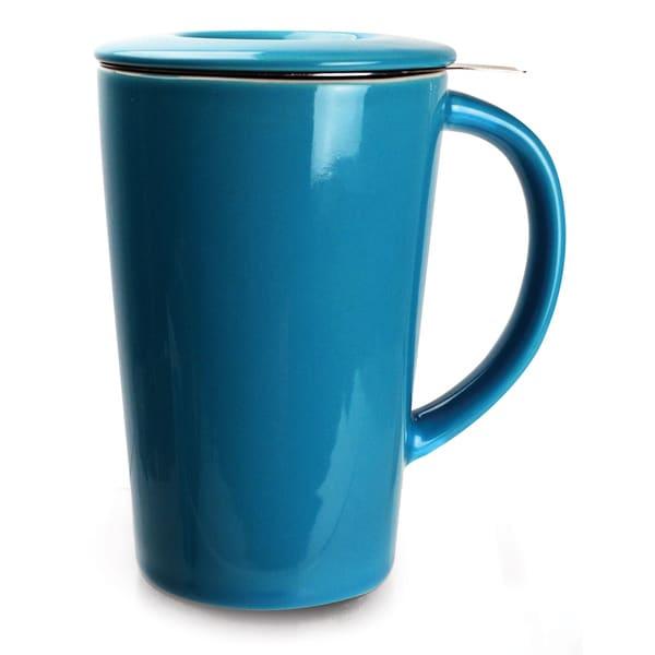 Ceramic Tea Brewing Mug Blue