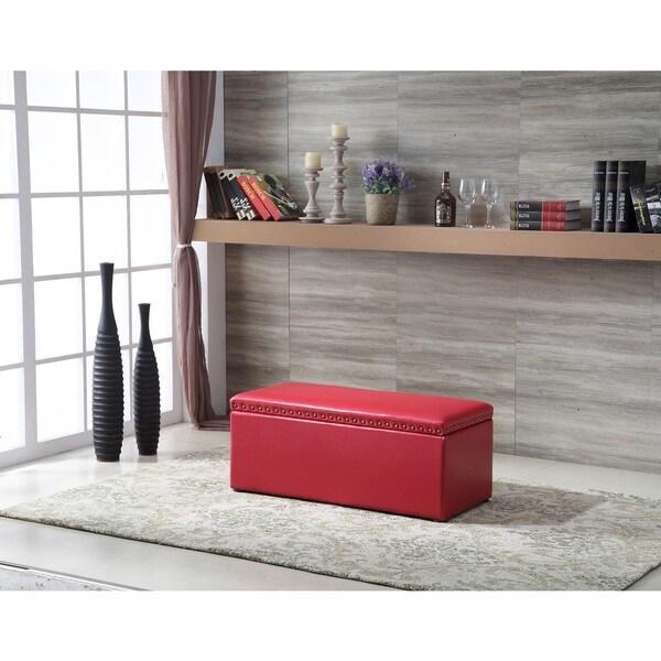 Royal Comfort Multi Function Storage Ottoman Red
