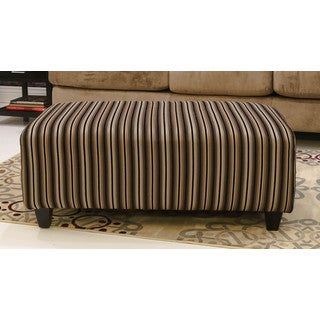 Somette Waterloo Striped Rectangle Cocktail Ottoman