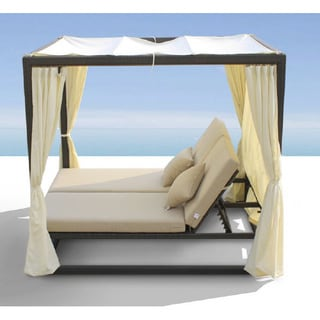 Renava Redondo Patio Canopy Day Bed with Dual Adjustable Backrests
