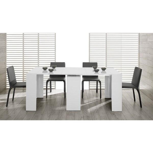 Modrest Morph Modern Ultra compact Extendable White Dining  : Modrest Morph Modern Ultra compact Extendable White Dining Table ff86892f 3176 4d18 afe9 e63e533f6fa8600 from www.overstock.com size 600 x 600 jpeg 60kB