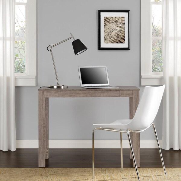 Altra Delilah Sonoma Oak Parsons Single Drawer Desk