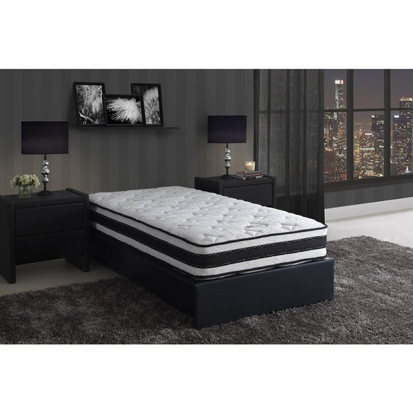 DHP Signature Sleep 8-inch Twin-size Liberty Pocket Coil & Memory Foam reversible Mattress