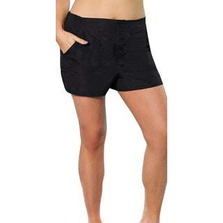 Black Cargo Shorts Bottoms