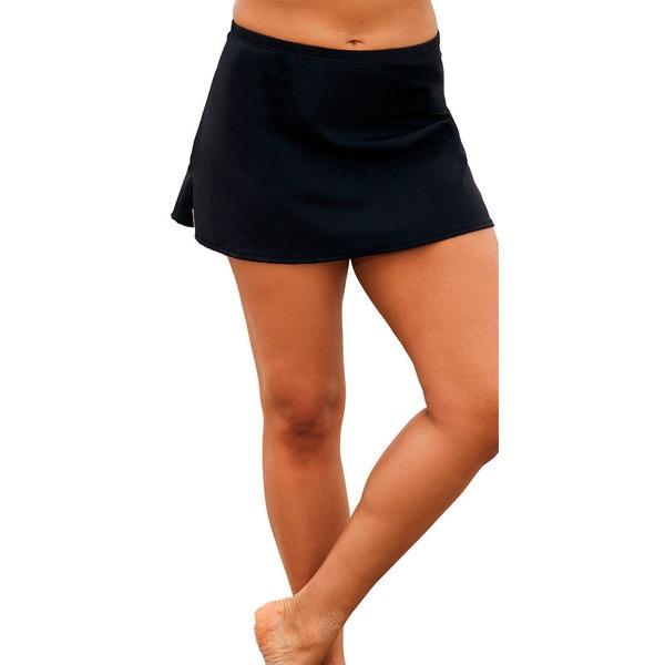 Black Side Slit Skirt Bottoms