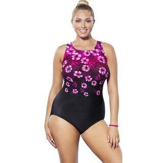 Aquabelle Oahu Engineered High Neck Swimsuit