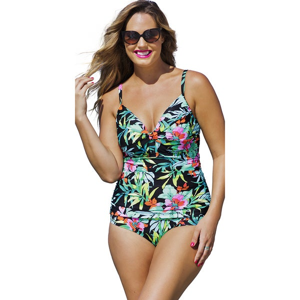 Shore Club Locals Only Underwire Twist Front Swimsuit