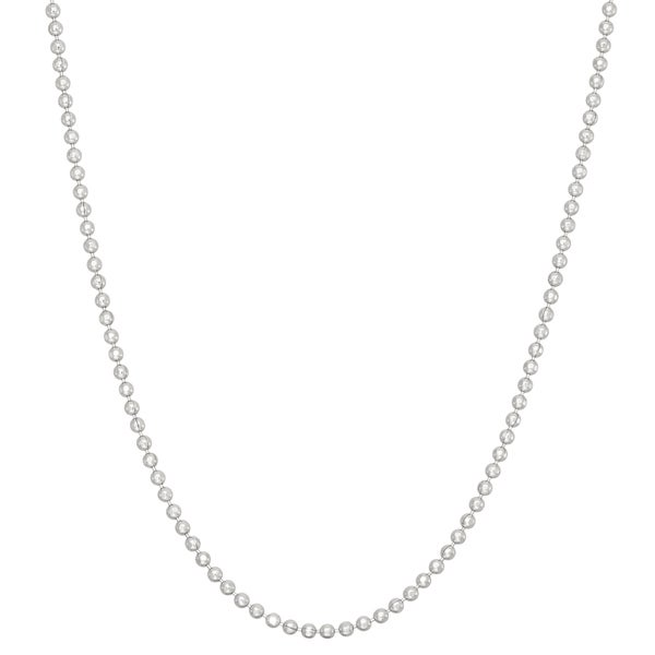 Gioelli Sterling Silver Diamond-cut 1.2mm Ball Chain Necklace