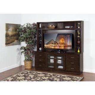 Sunny Designs Espresso TV Console and Hutch