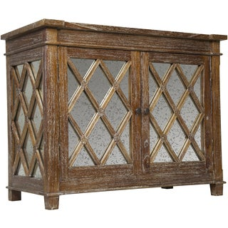 Elis Wood and Antique Glass Sideboard Media Center