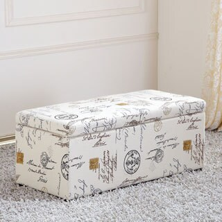 Royal Comfort Stamp Print Multi Function Storage Ottoman