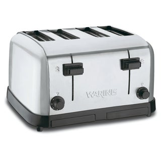 Waring Commercial WCT708 Medium Duty Brushed Chrome Steel Toaster with (4) Slots (Refurbished)