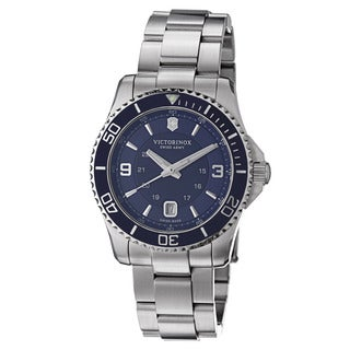 Swiss Army Men's V241602 'Maverick' Blue Dial Blue Stainless Steel Swiss Quartz Watch