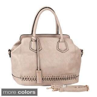 Rimen & Co. Lace Stitch Pattern Charm Tote Handbag
