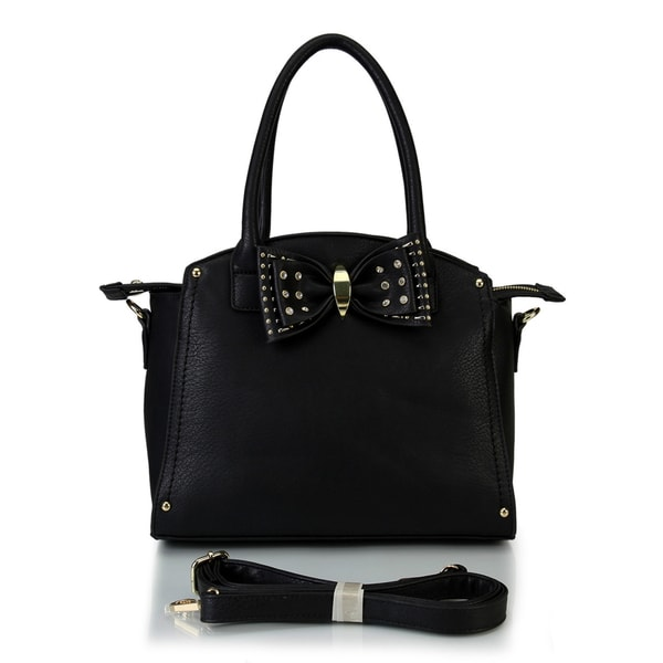 Mllecoco Solid Color & Studded Bowtie Tote Handbag