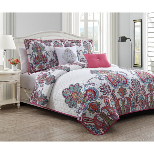 Avondale Manor Melisenta 5-Piece Reversible Quilt Set