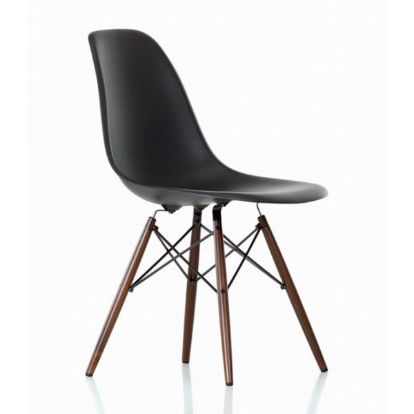 retro eames style molded plastic wood eiffel legs side chair set of 4