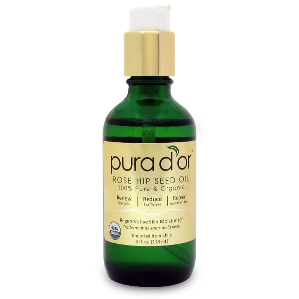 Pura d'Or Organic Rosehip 4-ounce Seed Oil