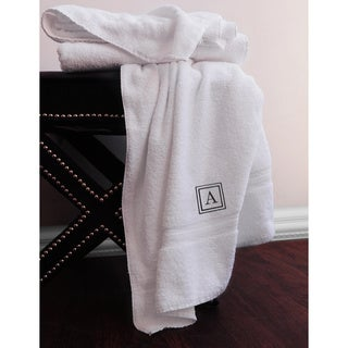 Sanderson Egyptian Cotton Monogram Oversized Bath Towels (Set of 2)