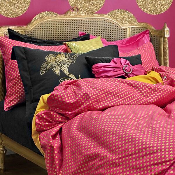 Wake Up Frankie London Rocks Polka Dot 3-piece Duvet Set