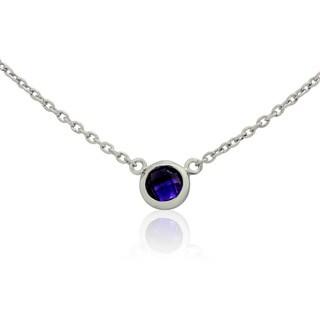 Gioelli Sterling Silver Fashion Amethyst Chain Necklace