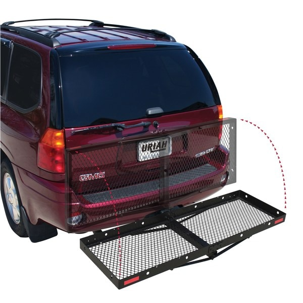 Hitch Mounted Fold-up Cargo Carrier
