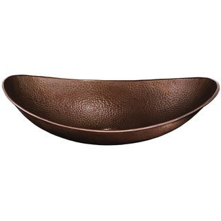 Sinkology Einstein 18-inch Handmade Above Counter Copper Vessel Sink in Antique Copper