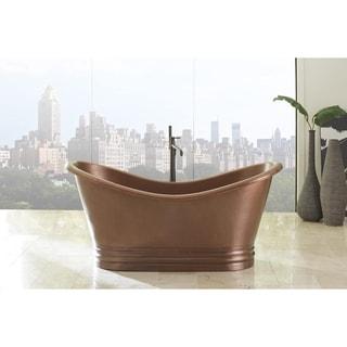 Sinkology Euclid 6-foot Handmade Antique Copper Freestanding Tub