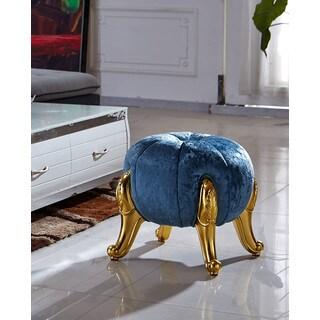Kantoi Diamond Luxury Round Ottoman Blue