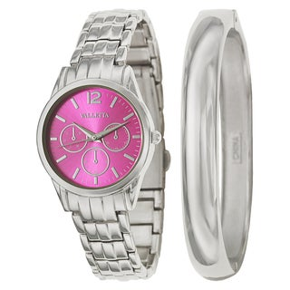 Valletta Women's 'Bracelet' Stainless Steel Quartz Watch