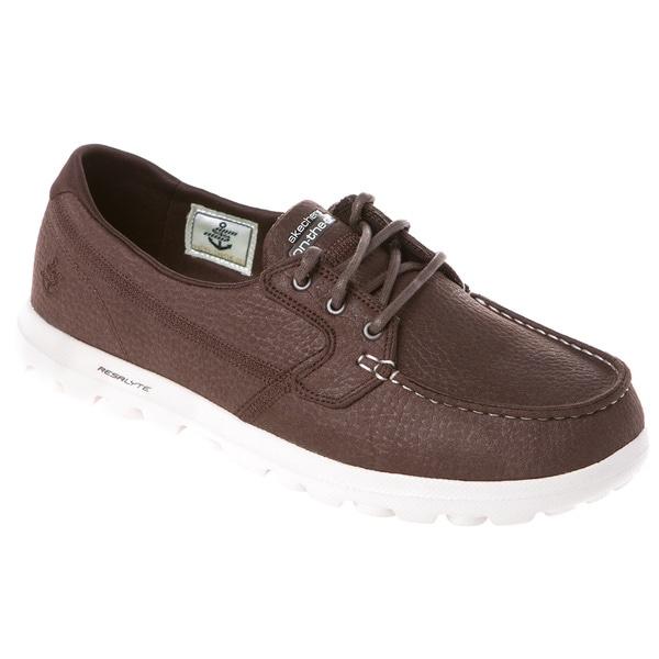 Skechers USA Moc-toe Leathertex Lace-up Boat Shoe
