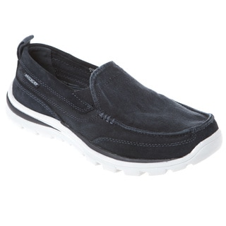Skechers USA Relaxed Fit Canvas Moc Toe Slip-on with Memory Foam