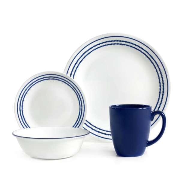 Corelle Livingware Jett Blue 16-piece Dinnerware Set 15309336