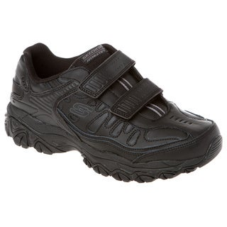 Skechers USA 50121 All Leather Upper Memory Foam Footbed Double Hook-and-loop Closure Sneaker