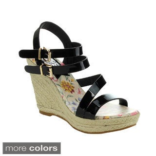 Easos Women's GEAL LMS-38278 Double Ankle Straps Wedges