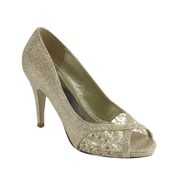 Styluxe Women's Weedle-48 Rhinestone Detailed Dress Heels