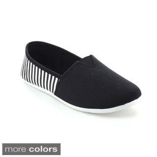 Refresh Women's Comfort Casual Elastic Skimmer Flats