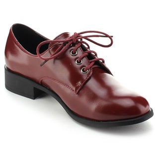 Refresh PEBBLE Women's Lace Up Low Chunky Heel Dress Oxfords