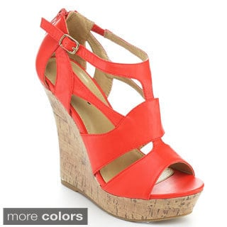 Styluxe Women's Twin-78 High Platform Wedges