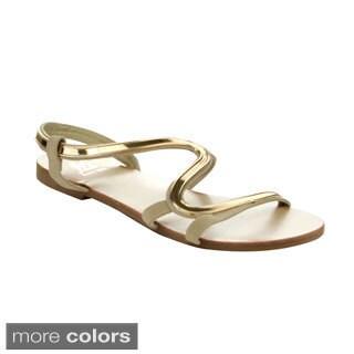 EASOS Women's GEAL JS-276 Cut-out Flat Sandals
