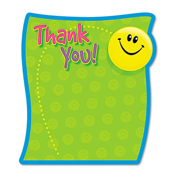 TREND Multicolored Thank You Note Pad (Pack of 5)