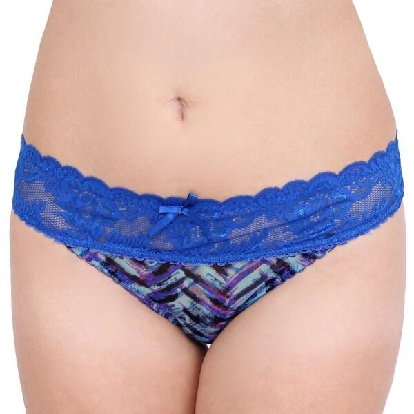 'Prestige Biatta' Katty Mesh Amparo Blue Lace Thong