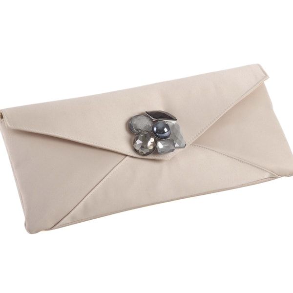 Envelope Clutch with Brooch