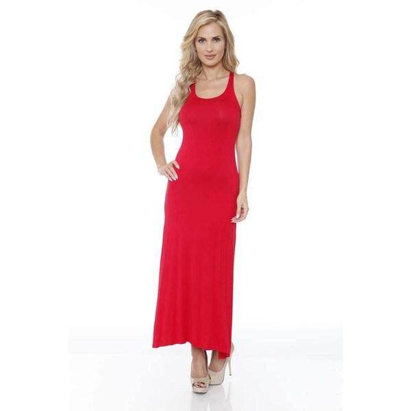 White Mark Women's 'Karin' Maxi Dress