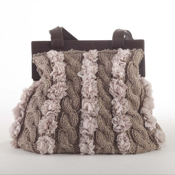 Knitted Design Shoulder Bag