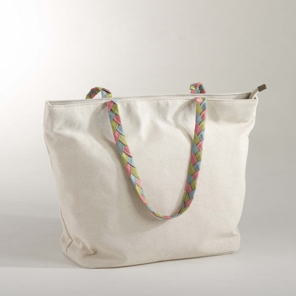 Tote Bag with Braided Handle