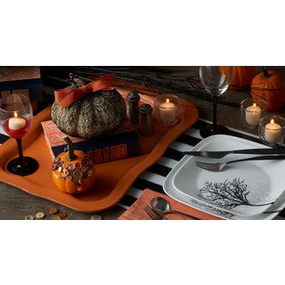 Corelle Square 16-piece Timber Shadows Dinnerware Set