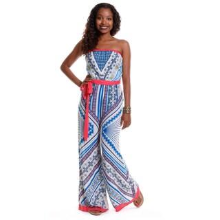 Hadari Women's Strapless Multi-Color jumpsuit