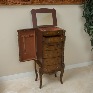 Christopher Knight Home Wood Grain Jewelry Cabinet